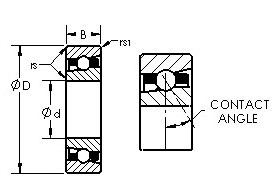 AST H71932C angular contact ball bearings