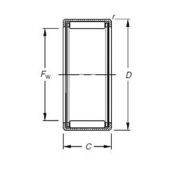 Timken HK1616 needle roller bearings
