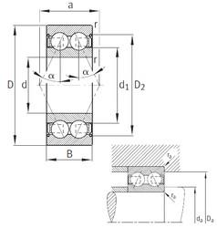 20 mm x 47 mm x 20,6 mm  FAG 3204-B-2Z-TVH angular contact ball bearings