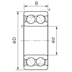 20 mm x 47 mm x 20.6 mm  NACHI 5204ANS angular contact ball bearings