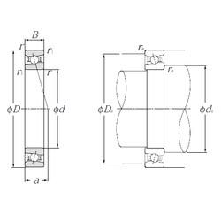160 mm x 220 mm x 28 mm  NTN HSB932C angular contact ball bearings
