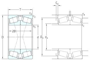 160 mm x 290 mm x 48 mm  SKF 30232J2/DF tapered roller bearings