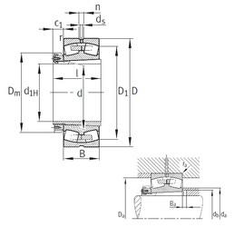 280 mm x 460 mm x 146 mm  FAG 23156-B-K-MB spherical roller bearings