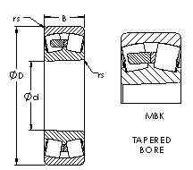 AST 23232MBK spherical roller bearings