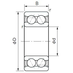 20 mm x 47 mm x 20.6 mm  NACHI 5204AZZ angular contact ball bearings