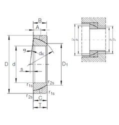 30 mm x 55 mm x 16 mm  INA GE 30 SX plain bearings