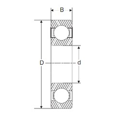 160 mm x 220 mm x 28 mm  SIGMA 61932 deep groove ball bearings
