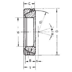 30 mm x 55 mm x 17 mm  FBJ GAC30S plain bearings