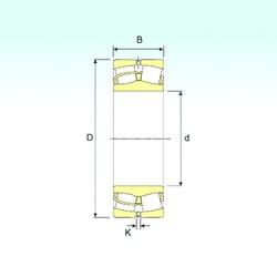 280 mm x 460 mm x 146 mm  ISB 23156 spherical roller bearings