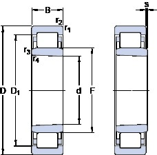 40 mm x 80 mm x 18 mm  SKF NU 208 ECKP thrust ball bearings