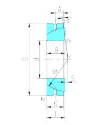 30 mm x 55 mm x 17 mm  LS GAC30S plain bearings
