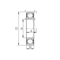 30 mm x 55 mm x 17 mm  KBC BS30-PHAUU angular contact ball bearings