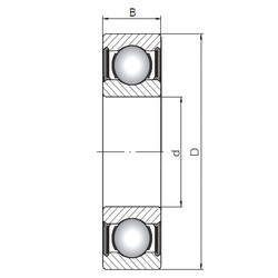 20 mm x 47 mm x 20,6 mm  ISO 63204-2RS deep groove ball bearings