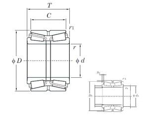 KOYO 46356 tapered roller bearings