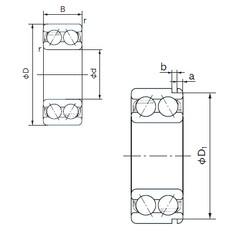 20 mm x 47 mm x 20.6 mm  NACHI 5204N angular contact ball bearings