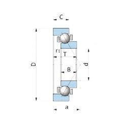30 mm x 55 mm x 17 mm  NTN SF0649PX1 angular contact ball bearings