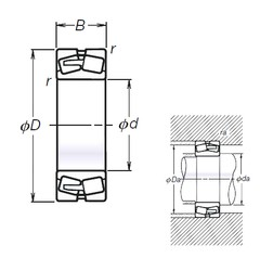 160 mm x 290 mm x 104 mm  NSK TL23232CE4 spherical roller bearings