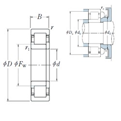 95 mm x 240 mm x 55 mm  NSK NUP 419 cylindrical roller bearings