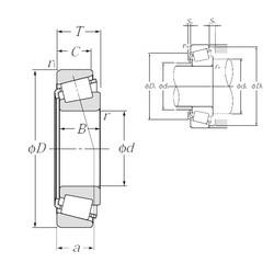 30 mm x 55 mm x 17 mm  NTN 4T-32006X tapered roller bearings