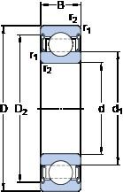 30 mm x 62 mm x 16 mm  SKF 6206-2Z/VA208 deep groove ball bearings
