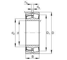 280 mm x 460 mm x 146 mm  FAG 23156-E1 spherical roller bearings