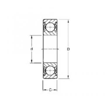 20 mm x 47 mm x 20,6 mm  CYSD W6204-ZZ deep groove ball bearings