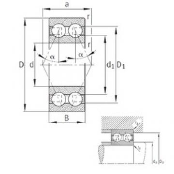 20 mm x 47 mm x 20,6 mm  FAG 3204-B-TVH angular contact ball bearings