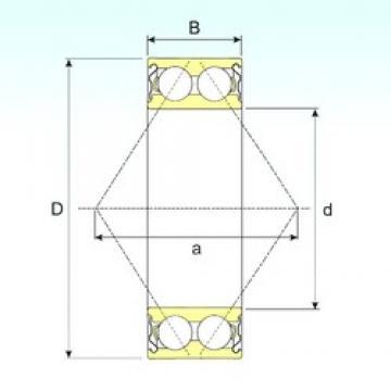 20 mm x 47 mm x 20,6 mm  ISB 3204-ZZ angular contact ball bearings