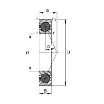 160 mm x 220 mm x 28 mm  FAG HCB71932-E-T-P4S angular contact ball bearings