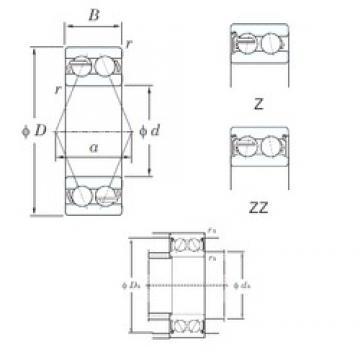 20 mm x 47 mm x 20.6 mm  KOYO 5204ZZ angular contact ball bearings