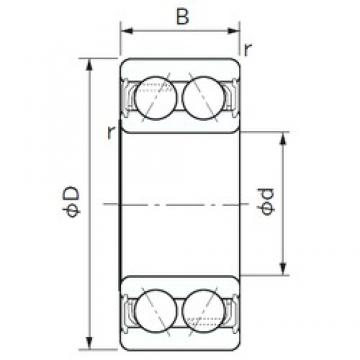 20 mm x 47 mm x 20.6 mm  NACHI 5204-2NS angular contact ball bearings