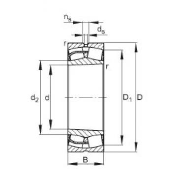 280 mm x 460 mm x 146 mm  FAG 23156-E1-K spherical roller bearings