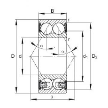20 mm x 47 mm x 20,6 mm  FAG 3204-BD-2HRS-TVH angular contact ball bearings