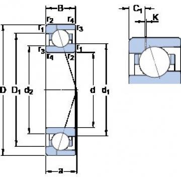 80 mm x 110 mm x 16 mm  SKF 71916 ACE/HCP4AH1 angular contact ball bearings