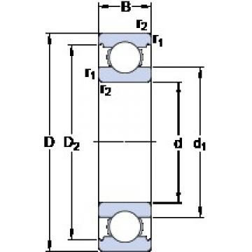 25 mm x 47 mm x 12 mm  SKF 6005 deep groove ball bearings