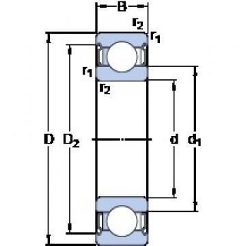 40 mm x 80 mm x 18 mm  SKF 6208-2Z/VA228 deep groove ball bearings