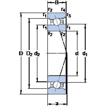 80 mm x 110 mm x 16 mm  SKF 71916 ACB/P4A angular contact ball bearings