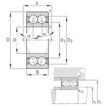 20 mm x 47 mm x 20,6 mm  FAG 3204-B-2RSR-TVH angular contact ball bearings