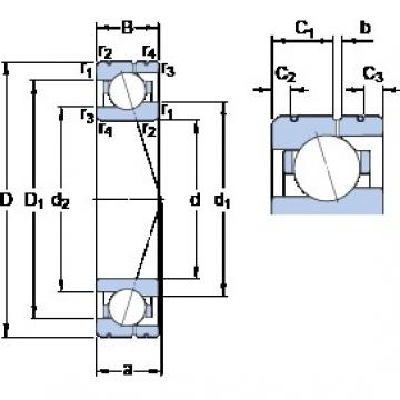 80 mm x 110 mm x 16 mm  SKF 71916 ACE/HCP4AL angular contact ball bearings