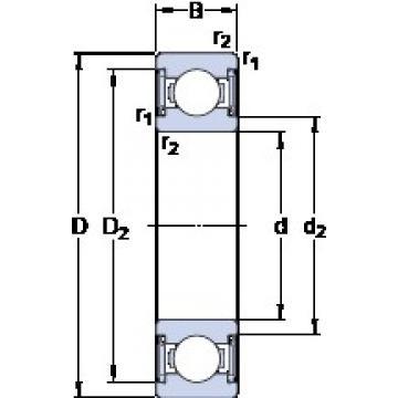 50 mm x 90 mm x 20 mm  SKF W 6210-2RS1 deep groove ball bearings