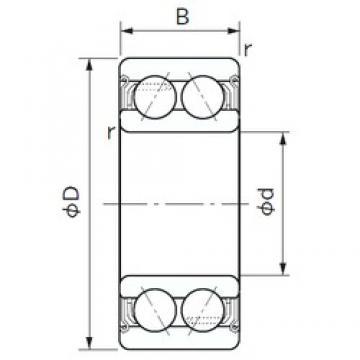 20 mm x 47 mm x 20.6 mm  NACHI 5204ZZ angular contact ball bearings