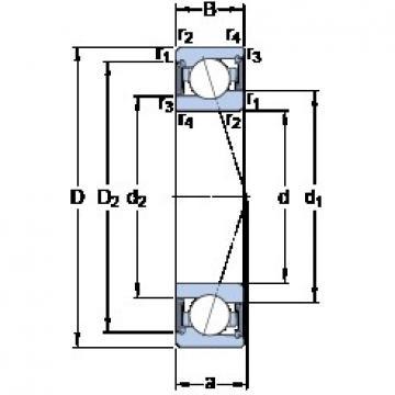 80 mm x 110 mm x 16 mm  SKF S71916 CE/HCP4A angular contact ball bearings
