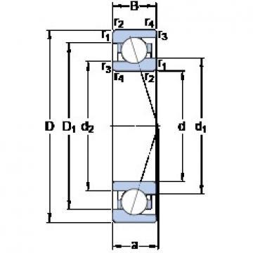 80 mm x 110 mm x 16 mm  SKF 71916 CE/P4A angular contact ball bearings