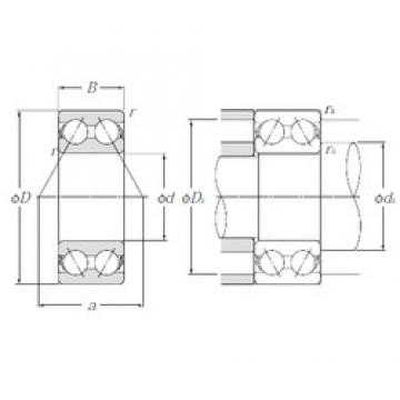 20 mm x 47 mm x 20,6 mm  NTN 5204S angular contact ball bearings
