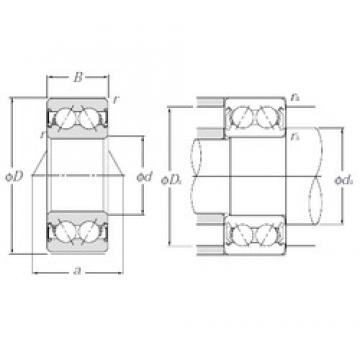 20 mm x 47 mm x 20,6 mm  NTN 5204SCLLM angular contact ball bearings