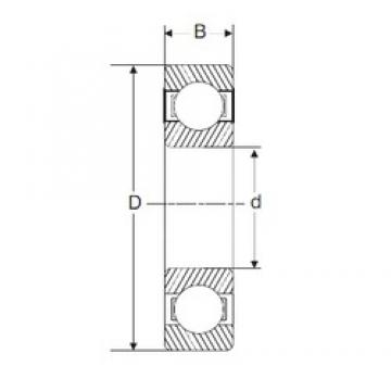 110 mm x 280 mm x 65 mm  SIGMA 6422 deep groove ball bearings