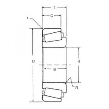 30 mm x 55 mm x 17 mm  FBJ 32006 tapered roller bearings
