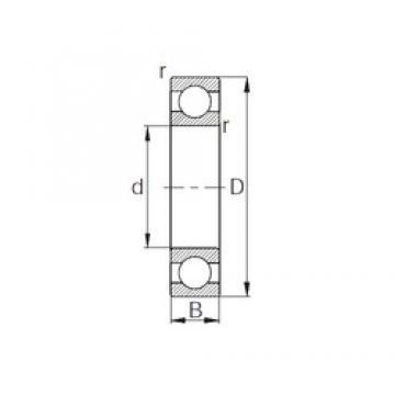 160 mm x 220 mm x 28 mm  CYSD 6932 deep groove ball bearings