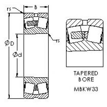 AST 23156MBKW33 spherical roller bearings