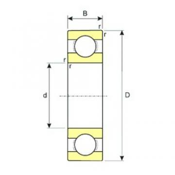 160 mm x 220 mm x 28 mm  ISB 61932 MA deep groove ball bearings